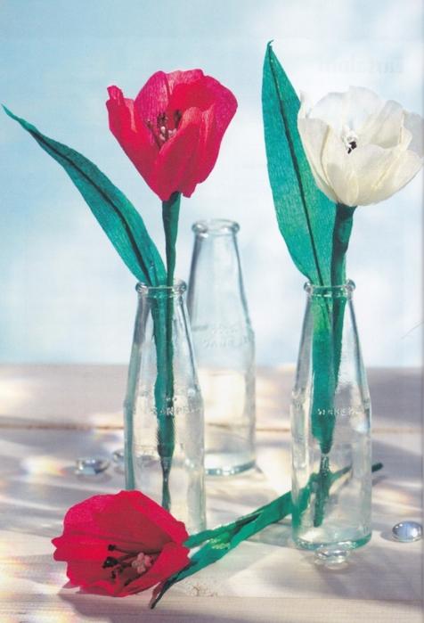 Цветы из креповой (гофрированной) бумаги - журнал (5) (476x700, 219Kb)