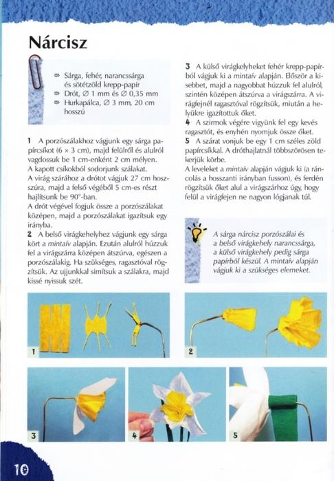 Цветы из креповой (гофрированной) бумаги - журнал (11) (486x700, 241Kb)