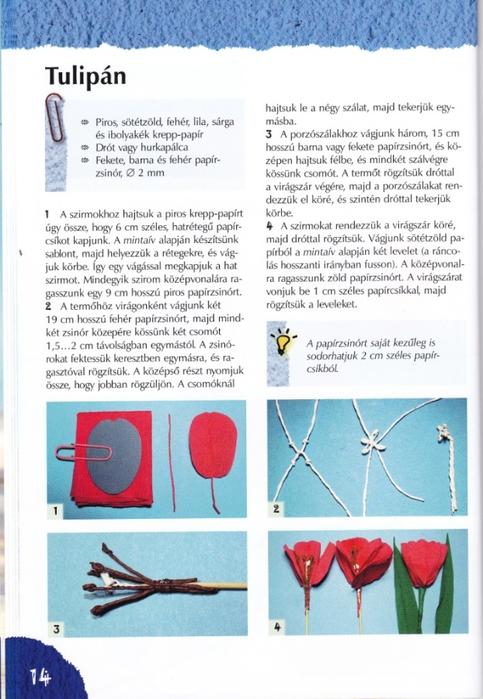 Цветы из креповой (гофрированной) бумаги - журнал (15) (483x700, 248Kb)