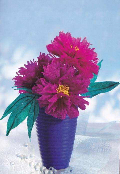Цветы из креповой (гофрированной) бумаги - журнал (22) (481x700, 231Kb)