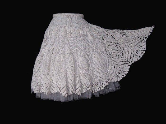 вязание юбки спицами схемы