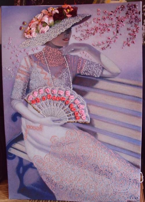 лиру Татьяна вышивка лентами32 (501x699, 409Kb)