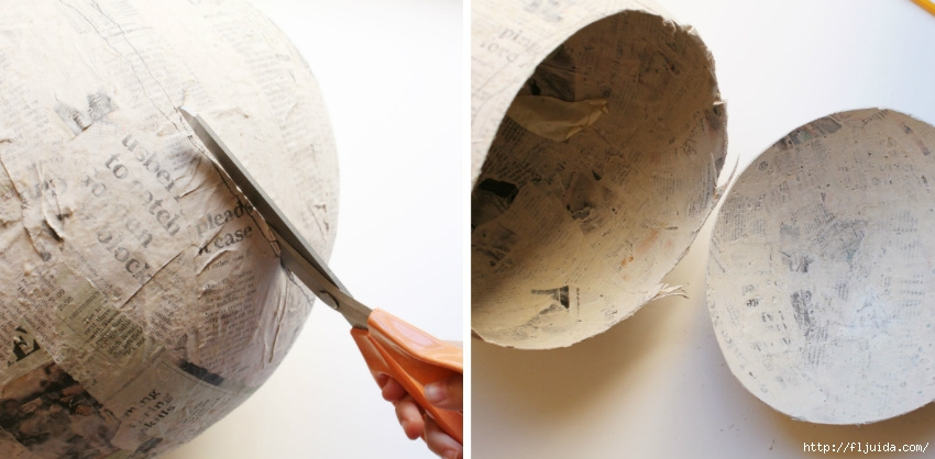 Как сделать шар основу из бумаги своими руками
