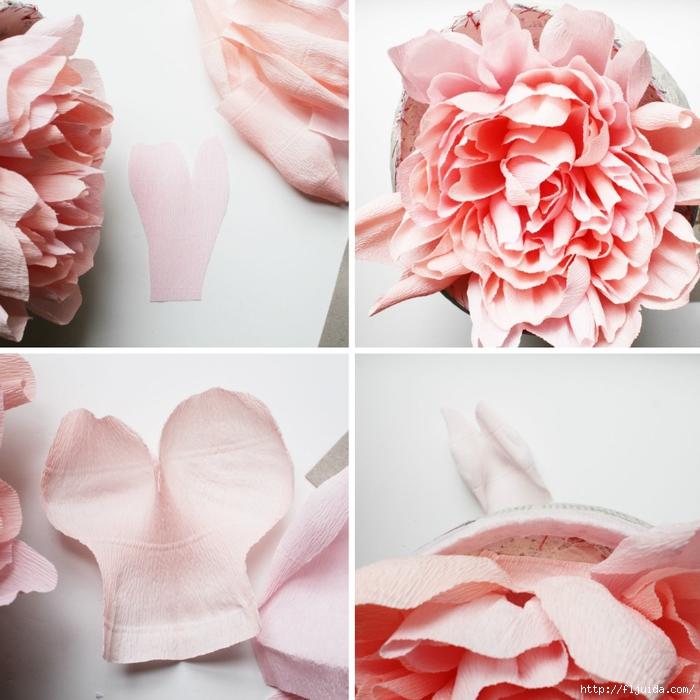 Пионы из бумаги своими руками цветы