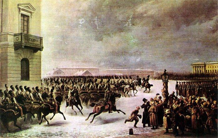 13 Восстание 14 декабря 1825 г. на Сенатской площади. 1853 (700x445, 88Kb)