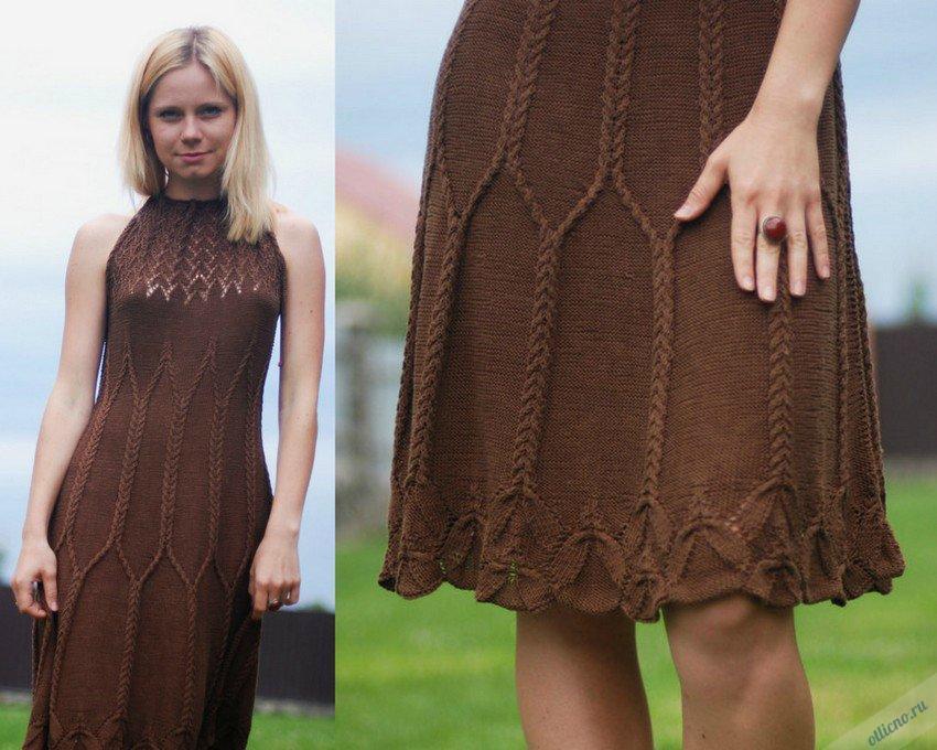 Красивые платья спицами