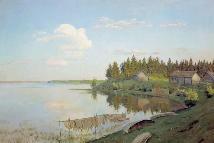 На озере (Тверская губерния). 1893 (700x469, 35Kb)