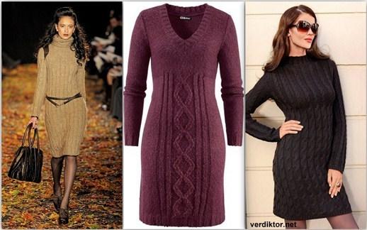 Схема вязания трикотажного платья