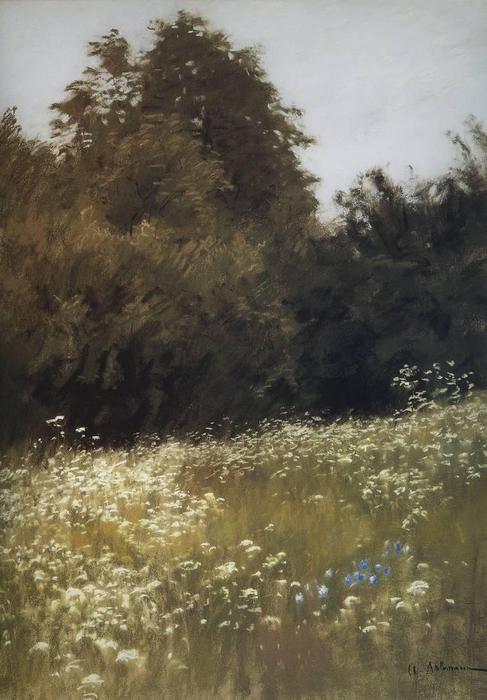 Луг на опушке леса. 1898 (487x700, 52Kb)