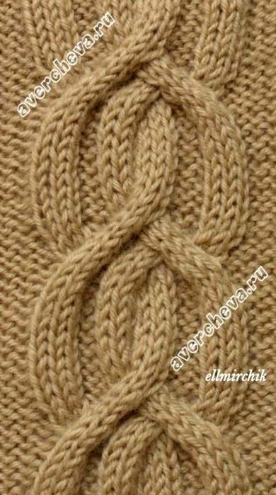 узор: коса шириной 21 петля