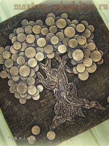 Картина панно денежное дерево своими руками - Интерьерный свет