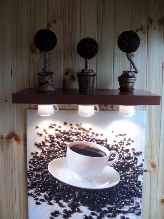 креативный светильник из кофейных чашек