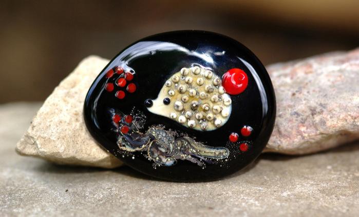 Laila Strazdina, лемпворк, лэмпворк, украшения из стекла, бусины лэмпворк, кабошоны