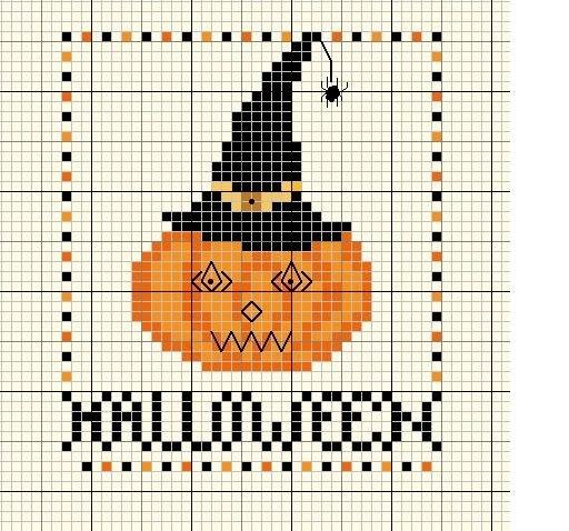 Хэллоуин. Вышивка крестом.