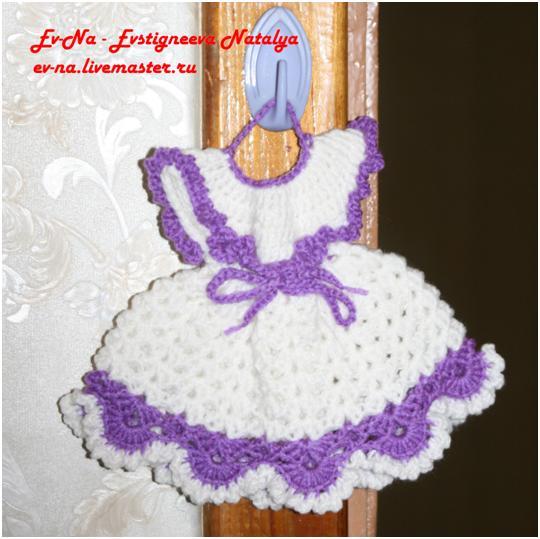 Вязание крючком прихватка платье 85