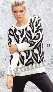 Пуловер с леопардовым узором.Модель (214x370, 71Kb)