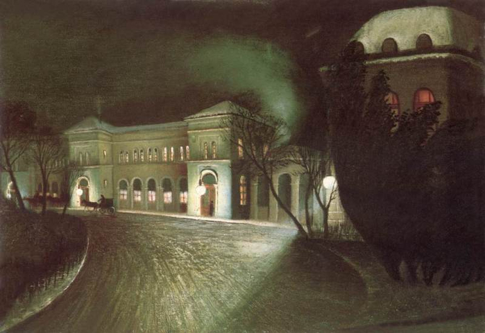 The Eastern Railway Station at Night, 1902 (700x480, 253Kb)