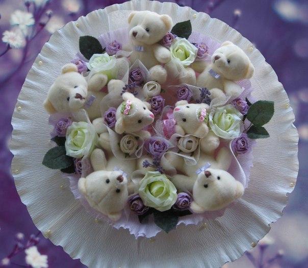 Цветы из игрушек мастер класс