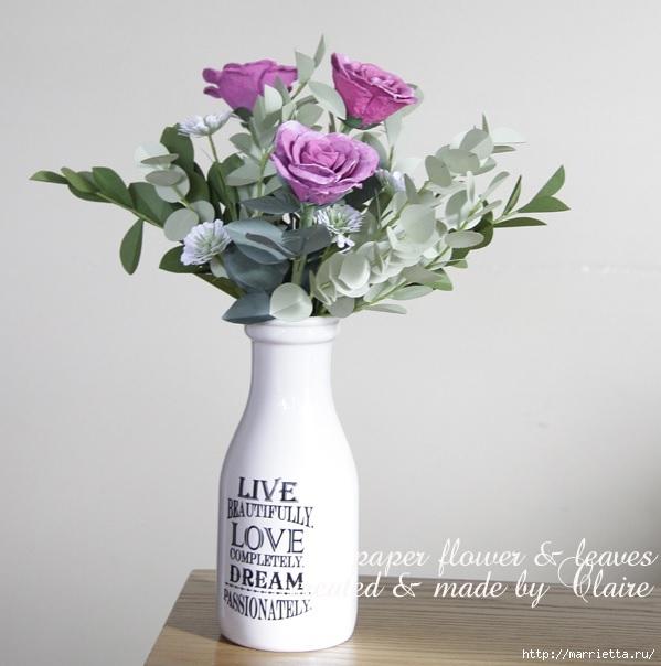 Розы из яичных лотков. Мастер-класс (1) (599x604, 149Kb)