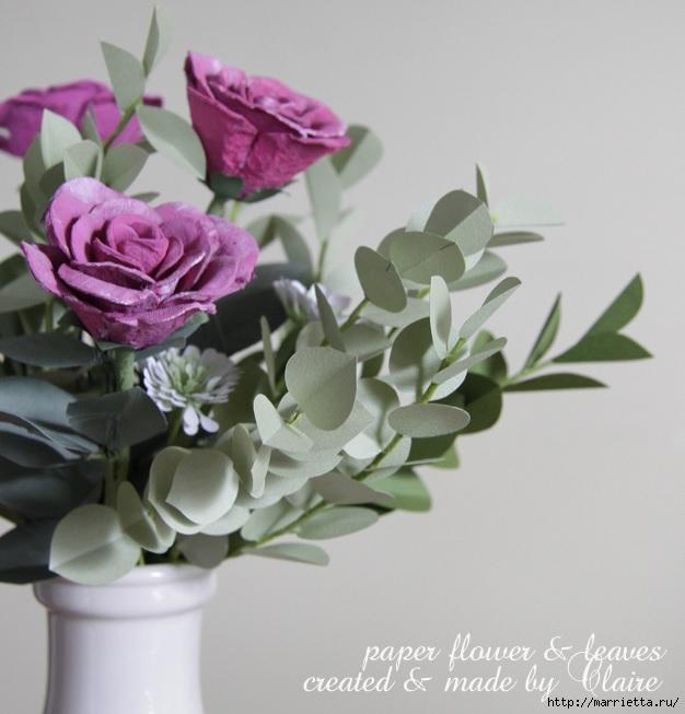Розы из яичных лотков. Мастер-класс (2) (626x653, 167Kb)