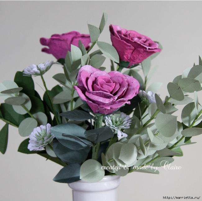 Розы из яичных лотков. Мастер-класс (8) (650x648, 200Kb)