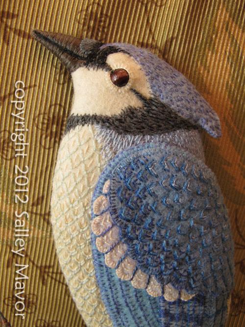 Райские птицы из войлока с вышивкой (5) (500x667, 360Kb)