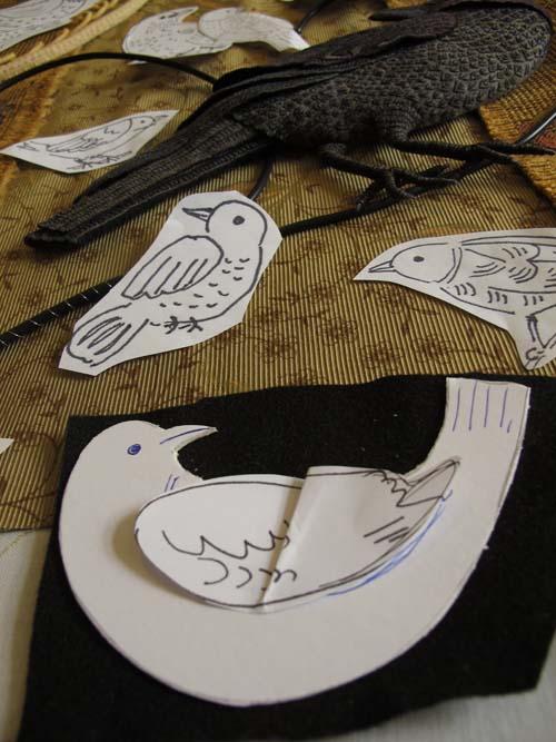 Aves del paraíso de fieltro con bordados (25) (500x667, 247Kb)