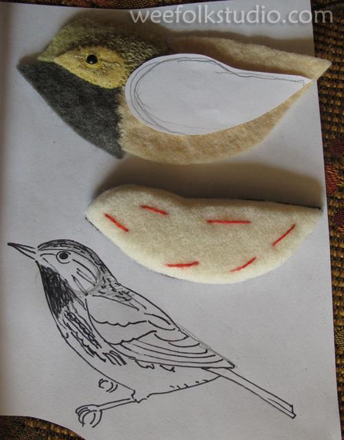 Райские птицы из войлока с вышивкой (31) (500x640, 265Kb)