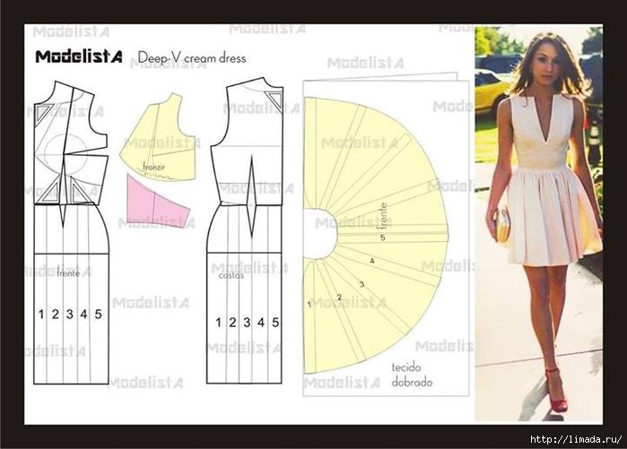 Как сшить из летнего платья юбку 184