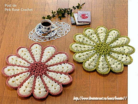 Centrinhos Coasters Crochet Hot Pad  (550x417, 665Kb)