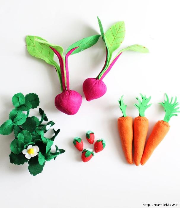 Фетровая грядка с ягодами и овощами (1) (607x700, 182Kb)