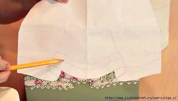 Имитация ткани при декупаже