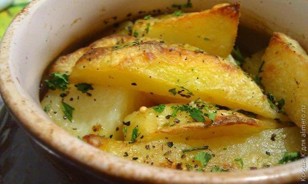 рецепты картошка в горшочках в духовке с фото