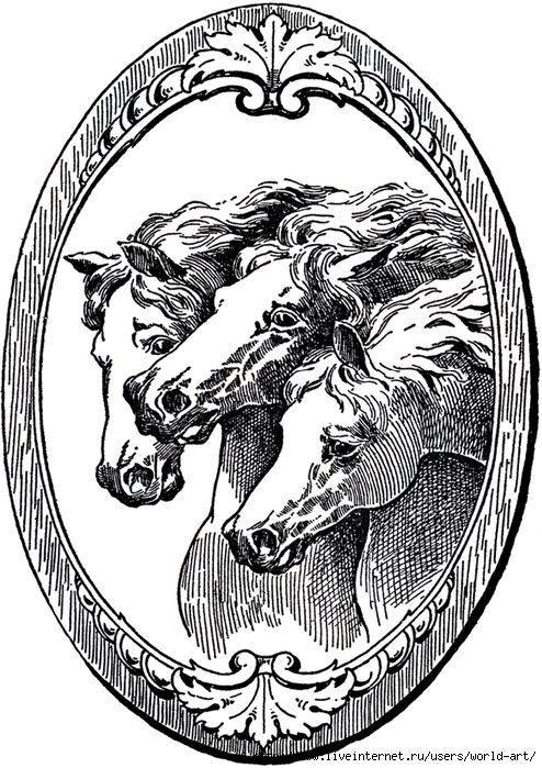 Vintage-Horse-Illustrations-GraphicsFairy (494x700, 327Kb)