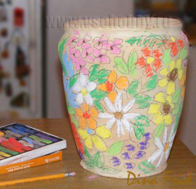 Цветочный мозаичный горшок. Мастер-класс (2) (400x385, 110Kb)