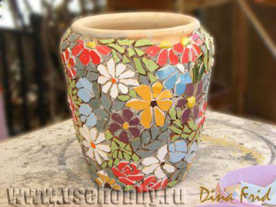Цветочный мозаичный горшок. Мастер-класс (4) (400x300, 101Kb)
