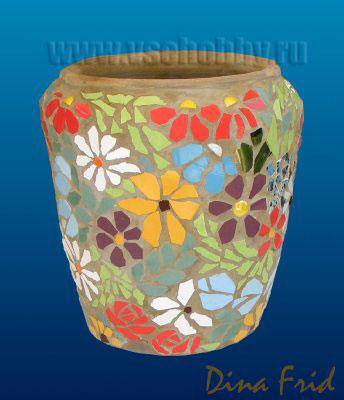 Цветочный мозаичный горшок. Мастер-класс (6) (344x400, 90Kb)