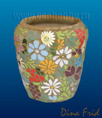Цветочный мозаичный горшок. Мастер-класс (8) (345x400, 91Kb)
