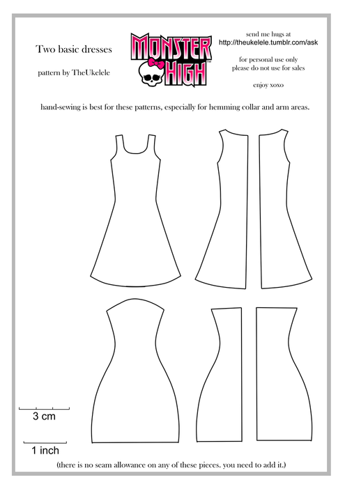 Как сделать своими руками платье для монстр хай