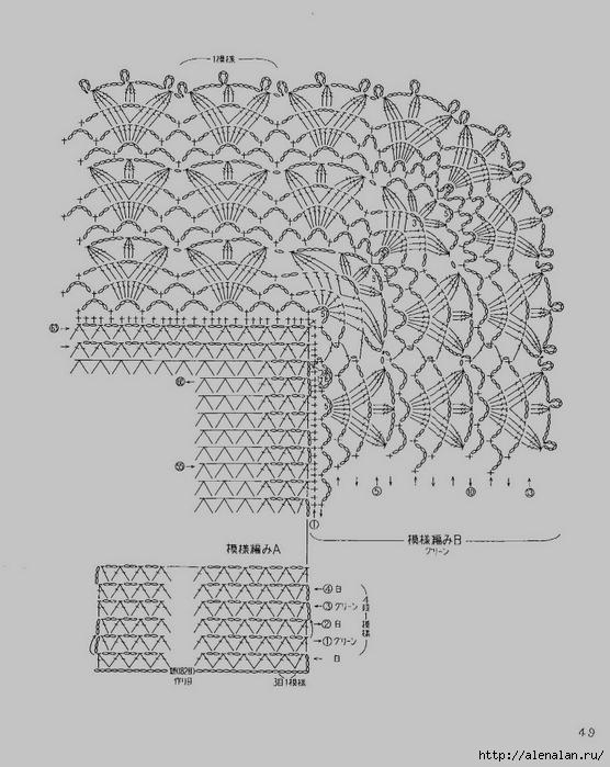 Схема вязания ажурного пледа для новорожденных крючком 14