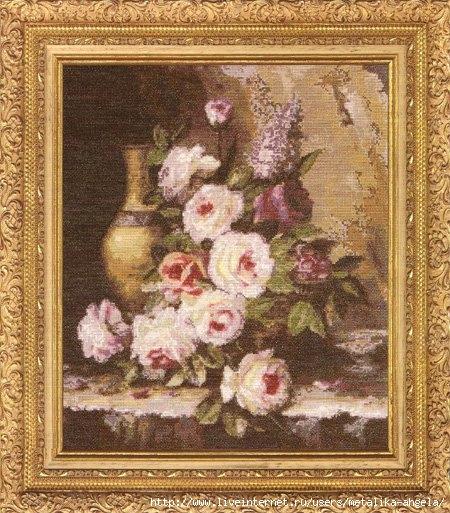 ГН-003 Мраморные розы (450x513, 226Kb)