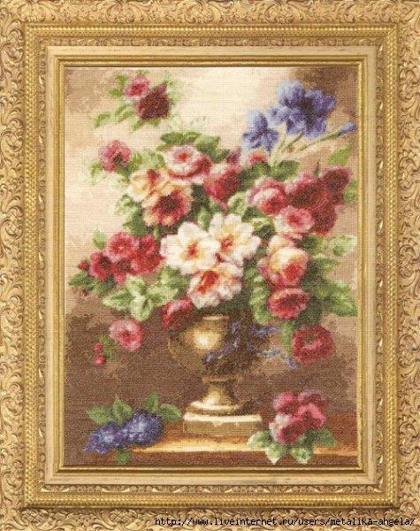 ГН-004 Античные цветы (475x600, 237Kb)
