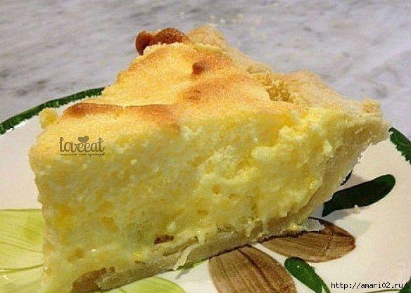 Пирог с яично-лимонной начинкой