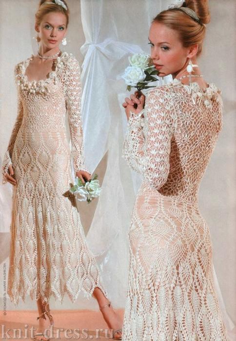 ажурное платье с юбкой ананас 1 (484x700, 170Kb)