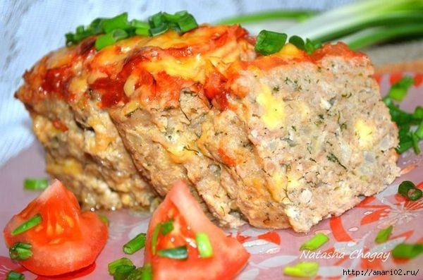 Запечённый мясной хлебец