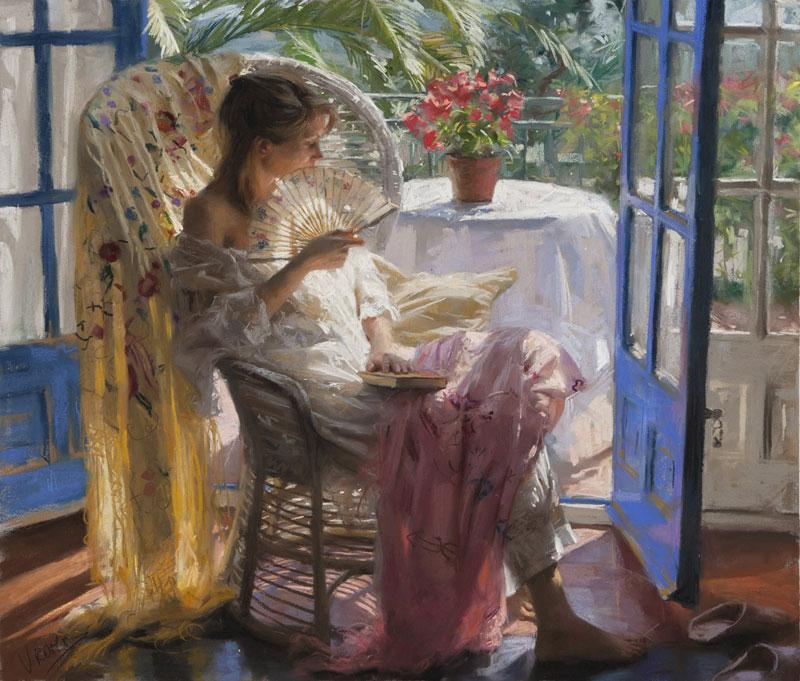 Песня эта женщина в окне в платье розового цвета