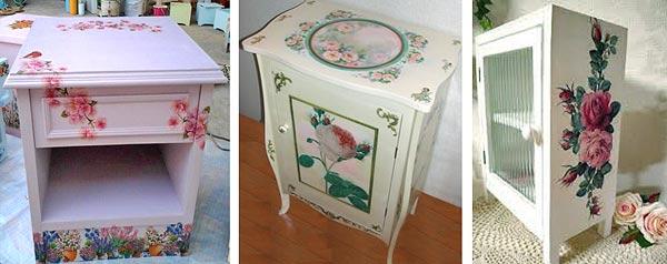 техника декупажа на мебели