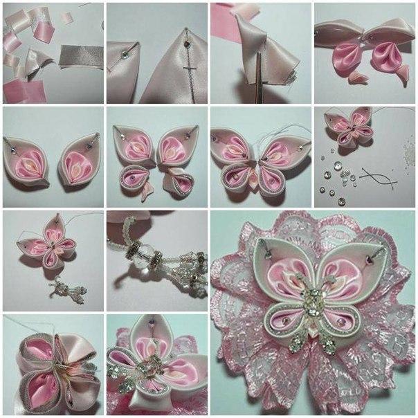Цветы из атласной ленты своими руками канзаши мастер класс