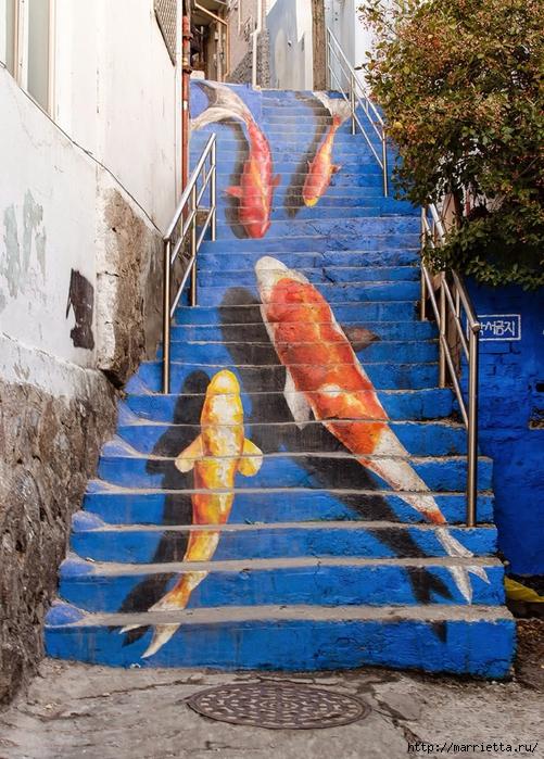 Граффити и Street Art. Самые красивые лестницы и ограды (2) (501x700, 373Kb)
