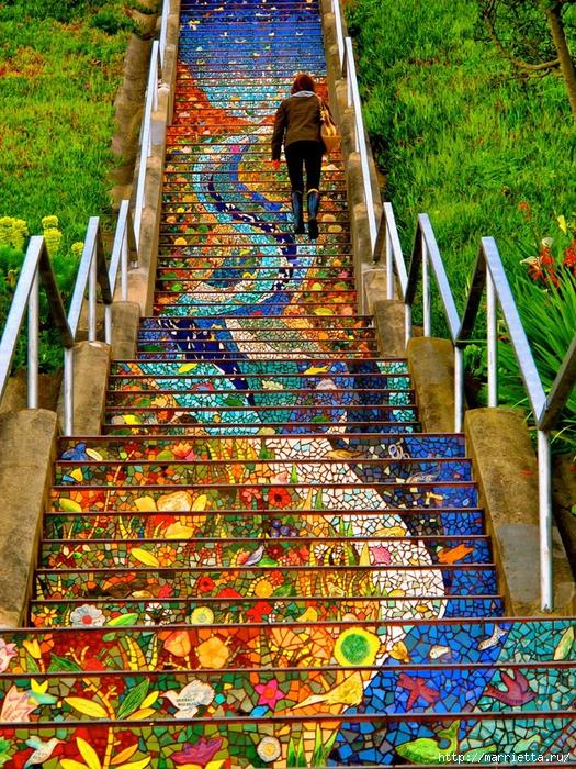 Граффити и Street Art. Самые красивые лестницы и ограды (4) (525x700, 529Kb)
